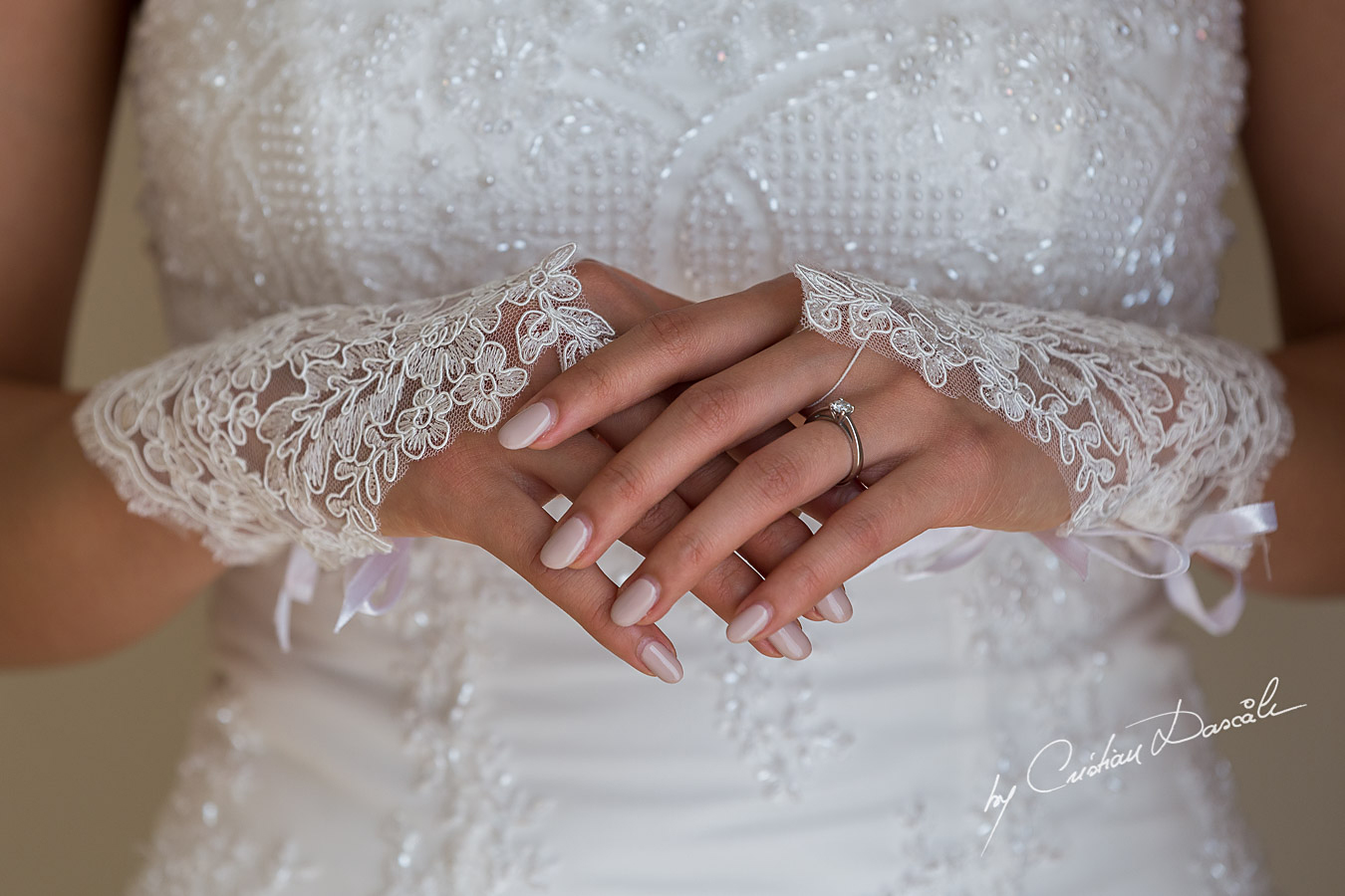 Bridal details photographed at Elias Beach Hotel in Limassol, Cyprus by photographer Cristian Dascalu