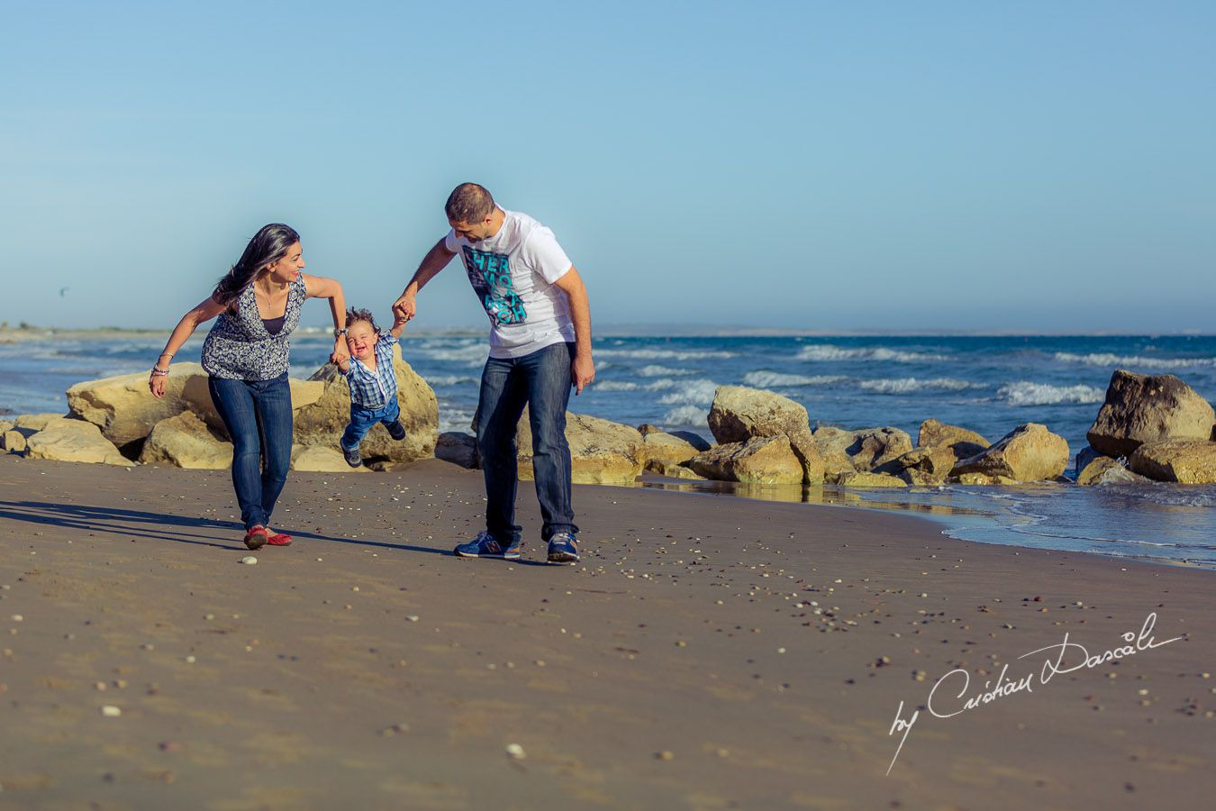 Maria, George & Harry - Having fun at Curium Beach, Cyprus. Photographer: Cristian Dascalu
