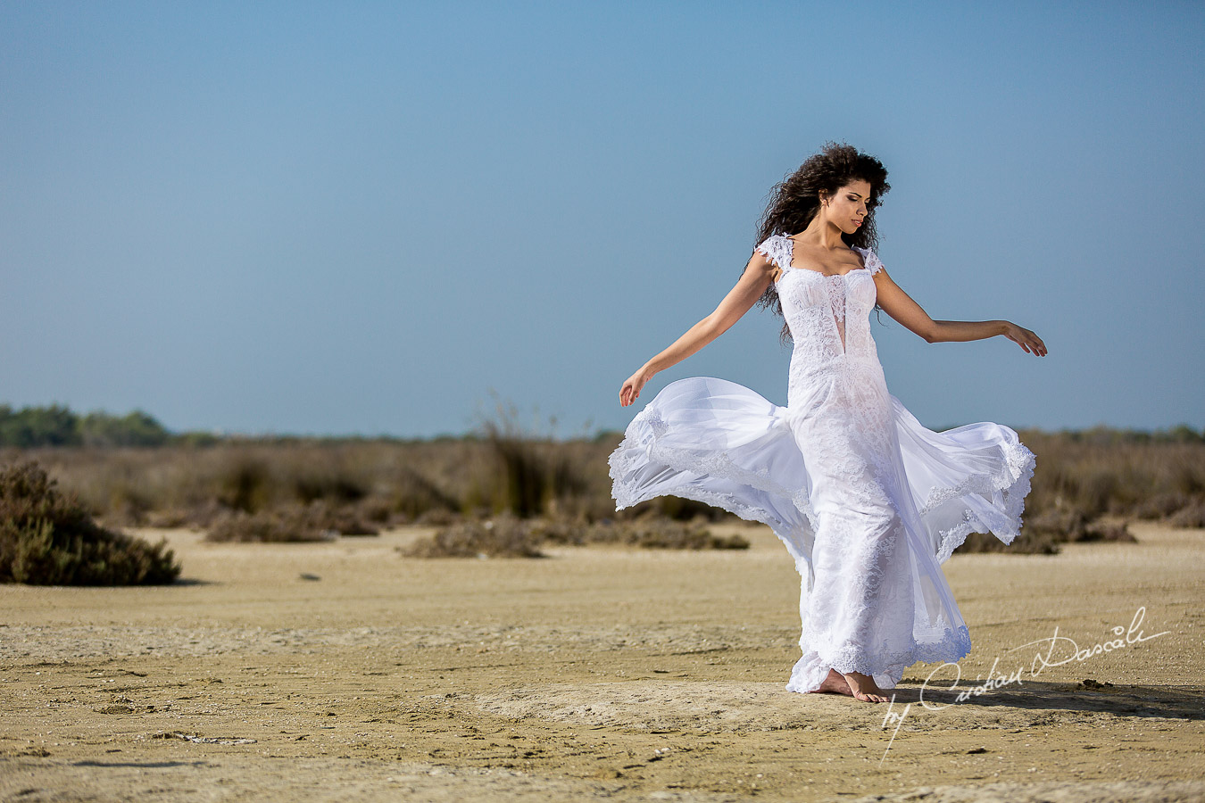 Wedding Editorial in Akrotiri Wedding Designer Litous Model Alice - 02