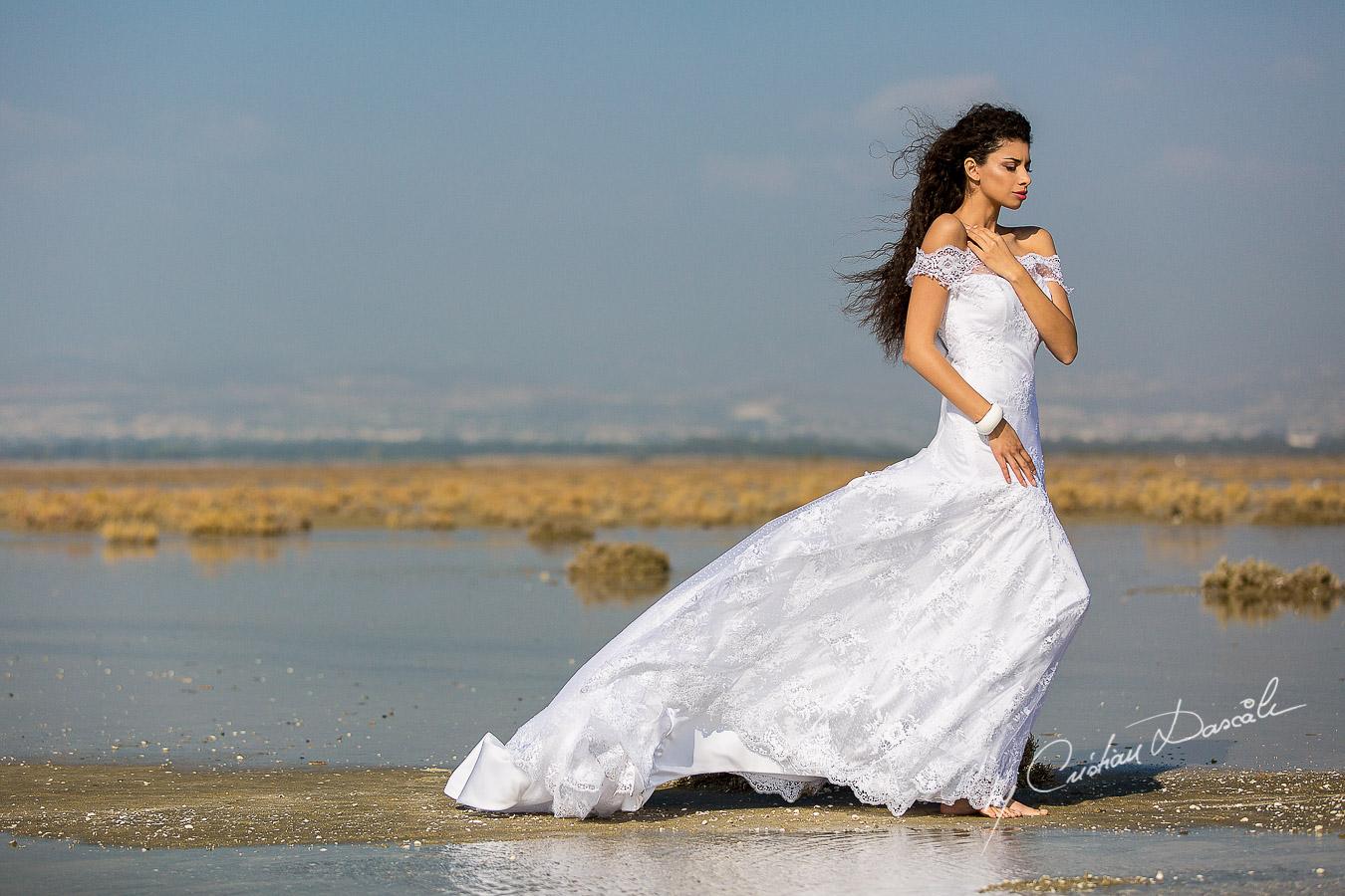 Wedding Editorial in Akrotiri Wedding Designer Litous Model Alice - 03