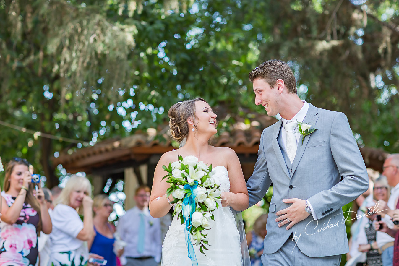 Wedding moments captured by Cristian Dascalu at Peyia Townhall.