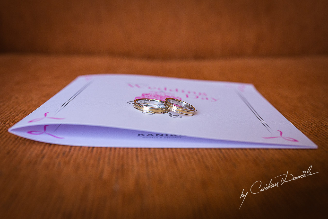 Wedding Rings photographed at Elias Beach Hotel in Limassol
