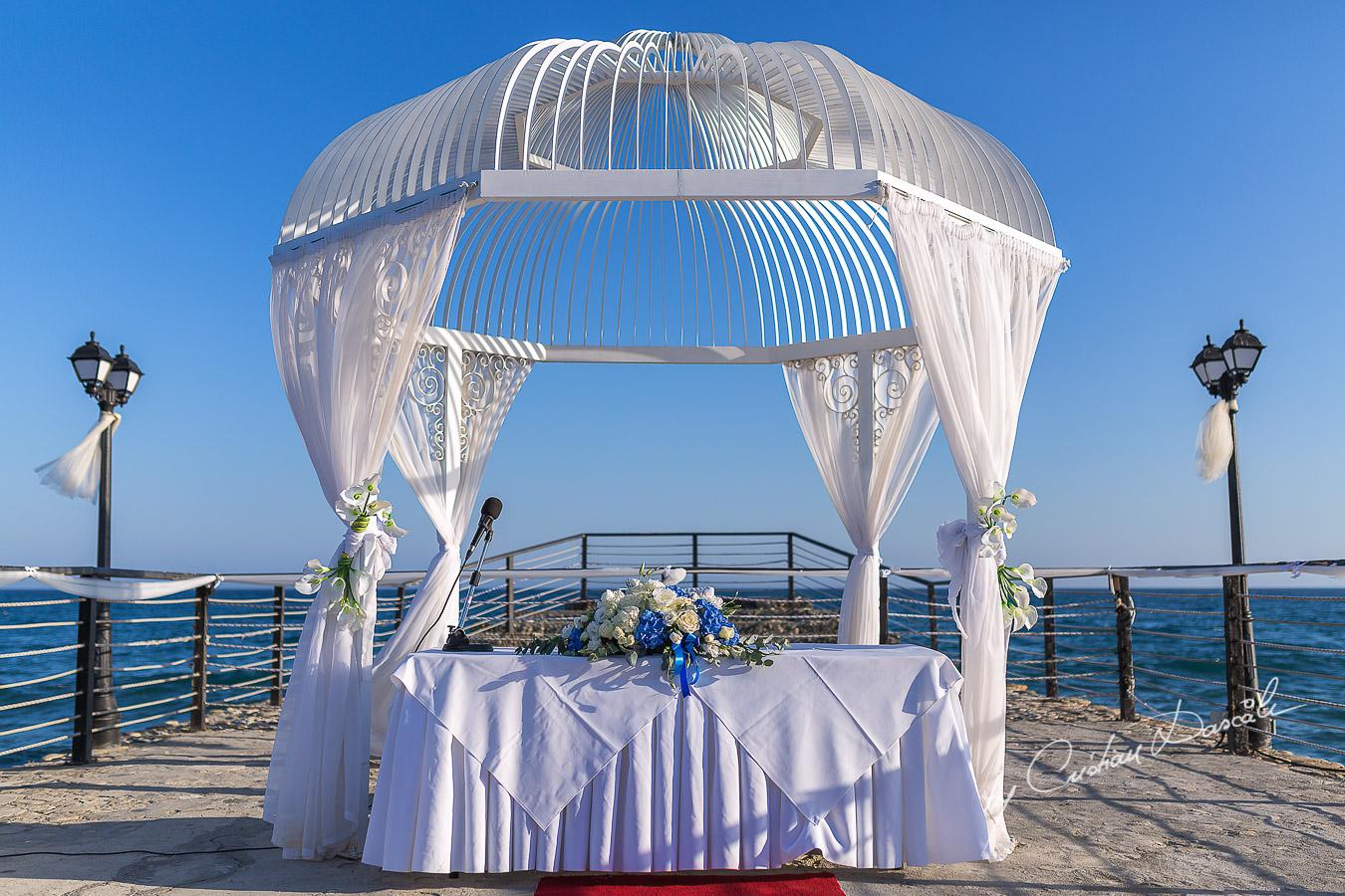 Wedding Gazebo at Elias Beach Hotel in Limassol