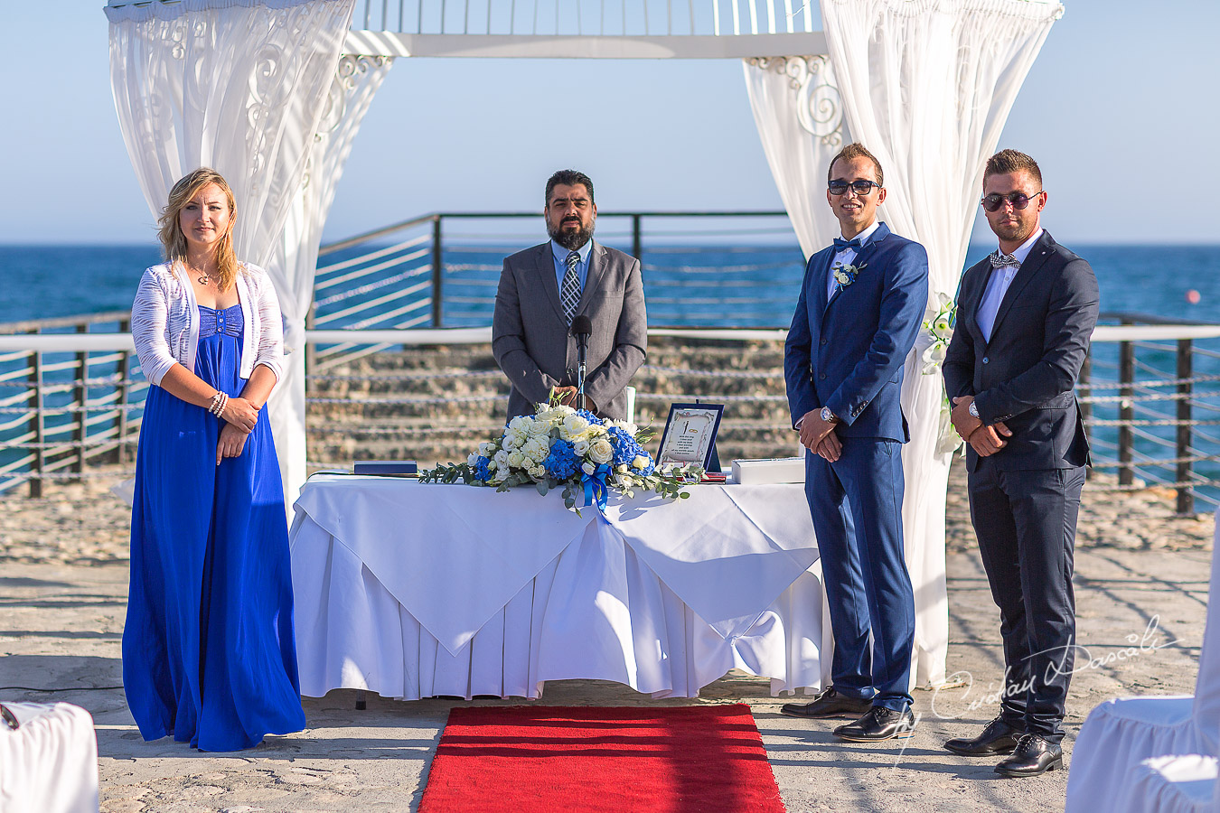 Moments before bride`s arrival at Elias Beach Hotel in Limassol