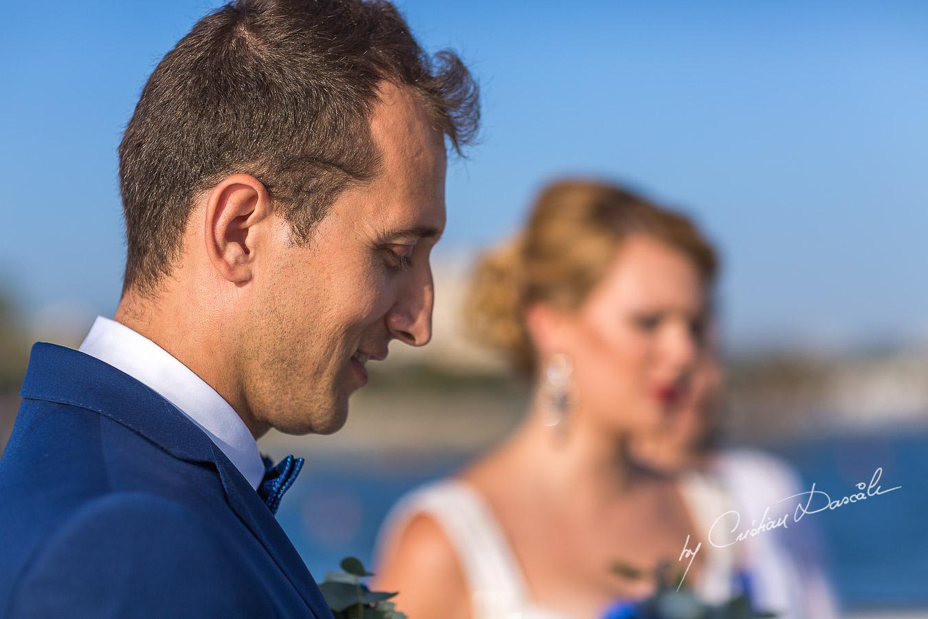 Emotional Wedding moment captured at Elias Beach Hotel in Limassol by Cristian Dascalu