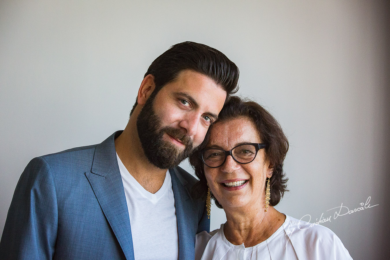 Tarek, the groom and his mother, photographed at Londa Hotel in Limassol, Cyprus.