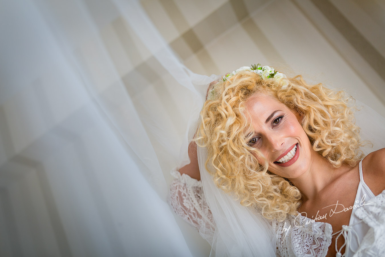 Bridal portraits captured before her Jewish Wedding Ceremony in Cyprus.