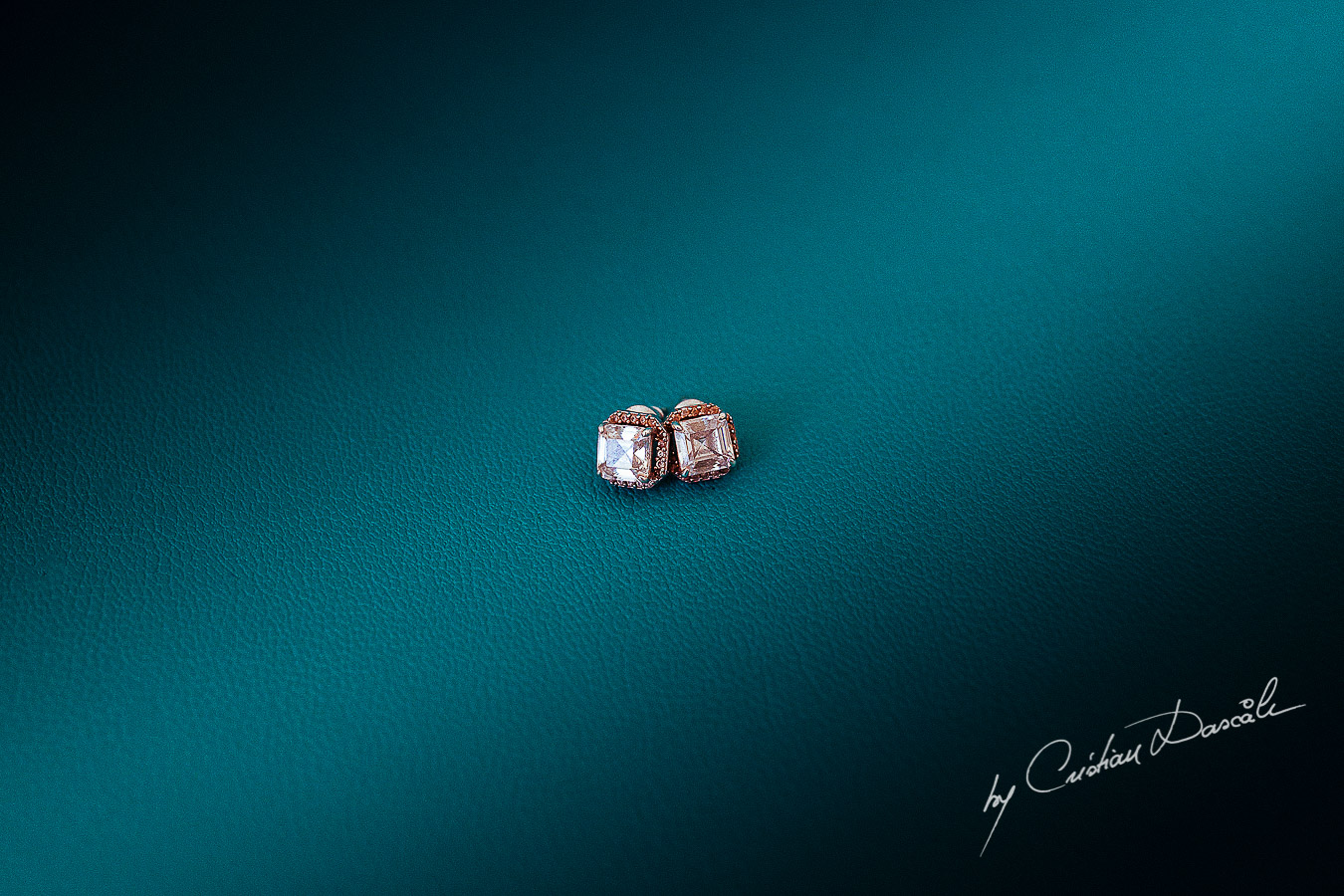 Bridal earings photographed at King Evelton Beach and Resort by Cristian Dascalu