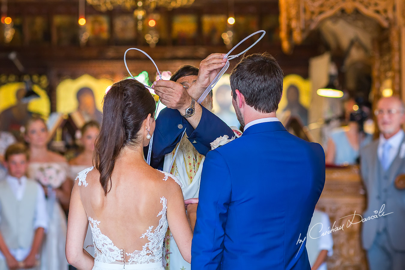 Emotional moment captured at a beautiful wedding at Agia Paraskevi in Paphos, Cyprus.