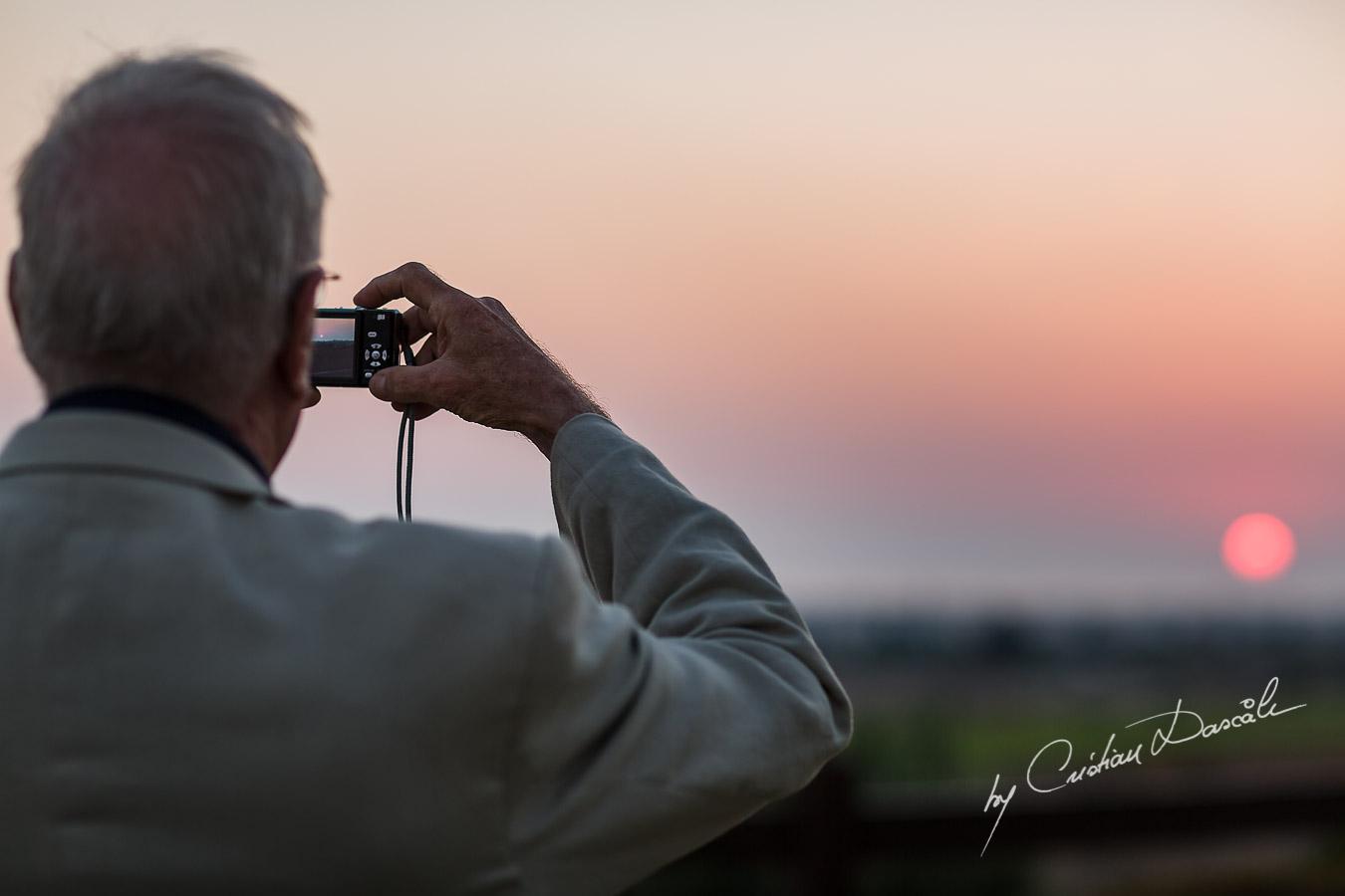 Gorgeous sunset captured form the Hills of the Elea Estate Golf by Cristian Dascalu wedding photographer.