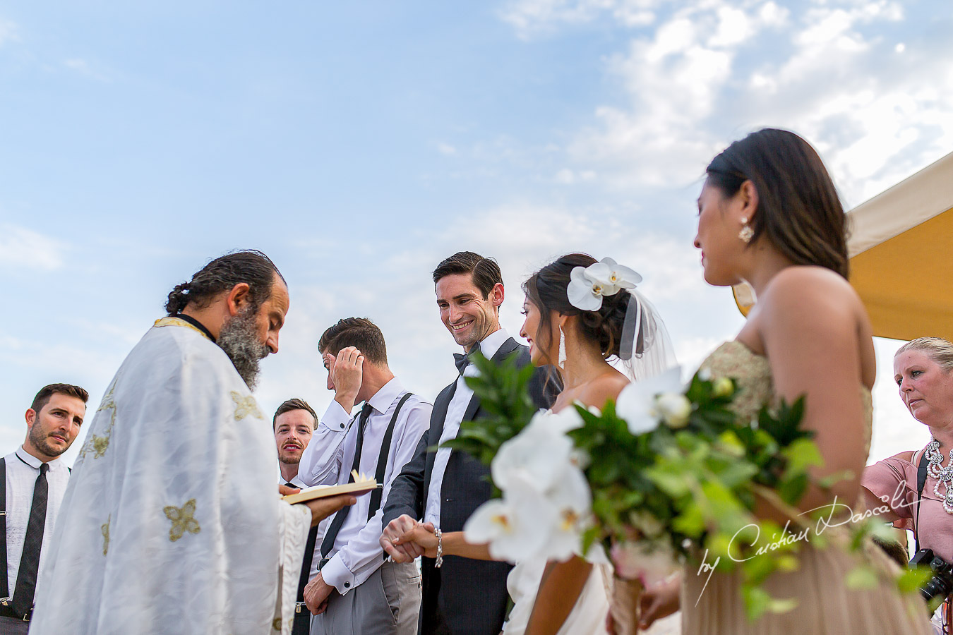 Wedding moments captured at a wedding in Ayia Napa, Cyprus by Cristian Dascalu.
