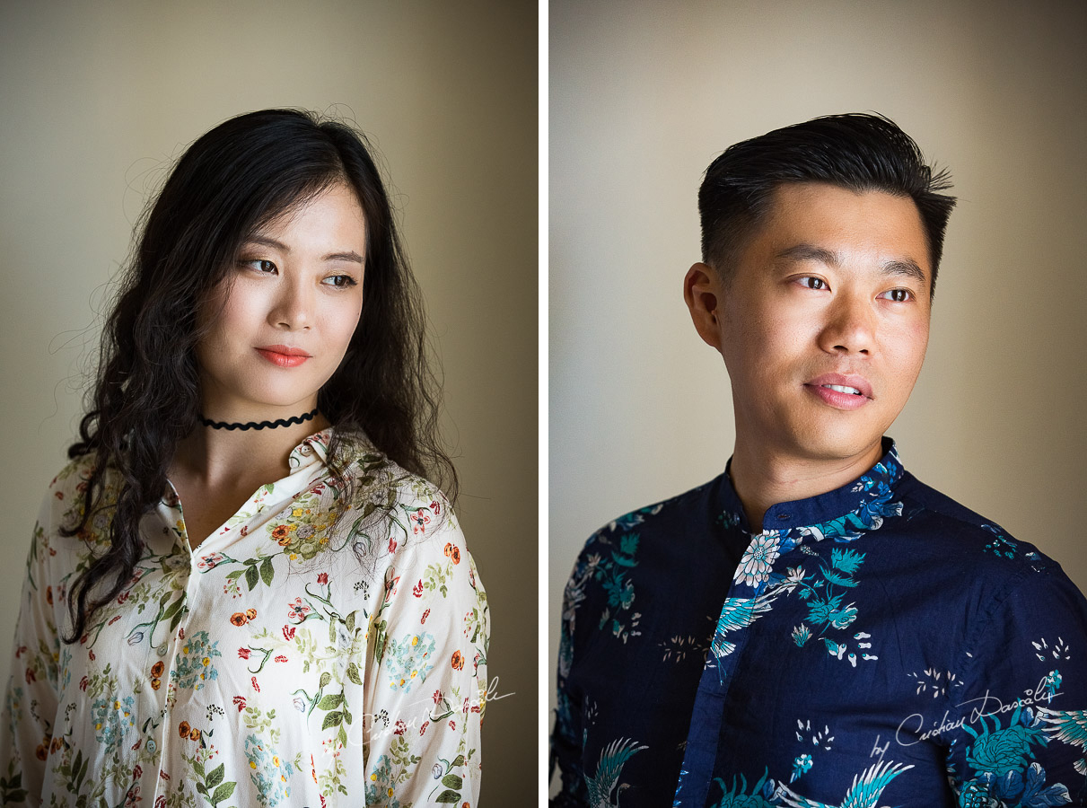 Portraits of Hongzhen and Song captured by Cristian Dascalu in Larnaca, Cyprus.