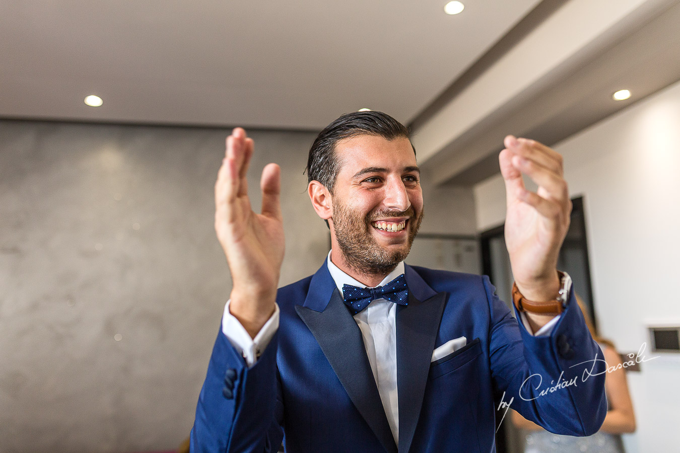 Traditional Zomanta moments from the groom's getting ready captured at an elegant and romantic wedding at Elias Beach Hotel by Cristian Dascalu.