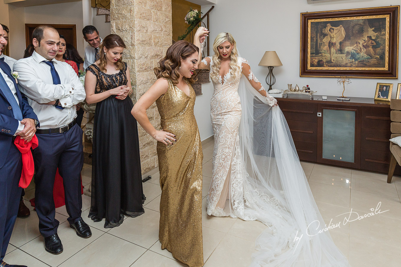 Traditional Zomanta moments from the bride's getting ready captured at an elegant and romantic wedding at Elias Beach Hotel by Cristian Dascalu.