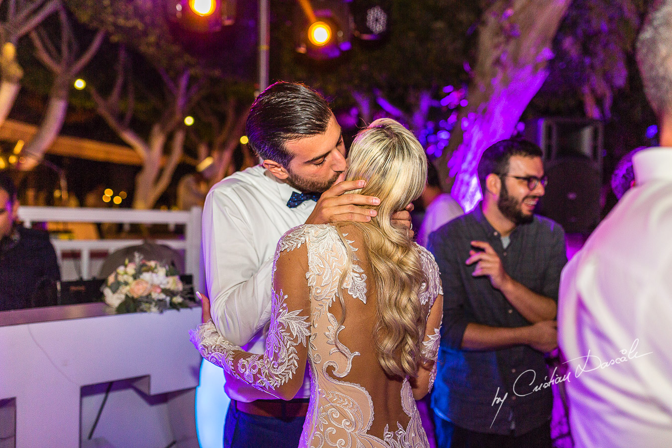 Moments captured during the first dance at an elegant and romantic wedding at Elias Beach Hotel by Cristian Dascalu.