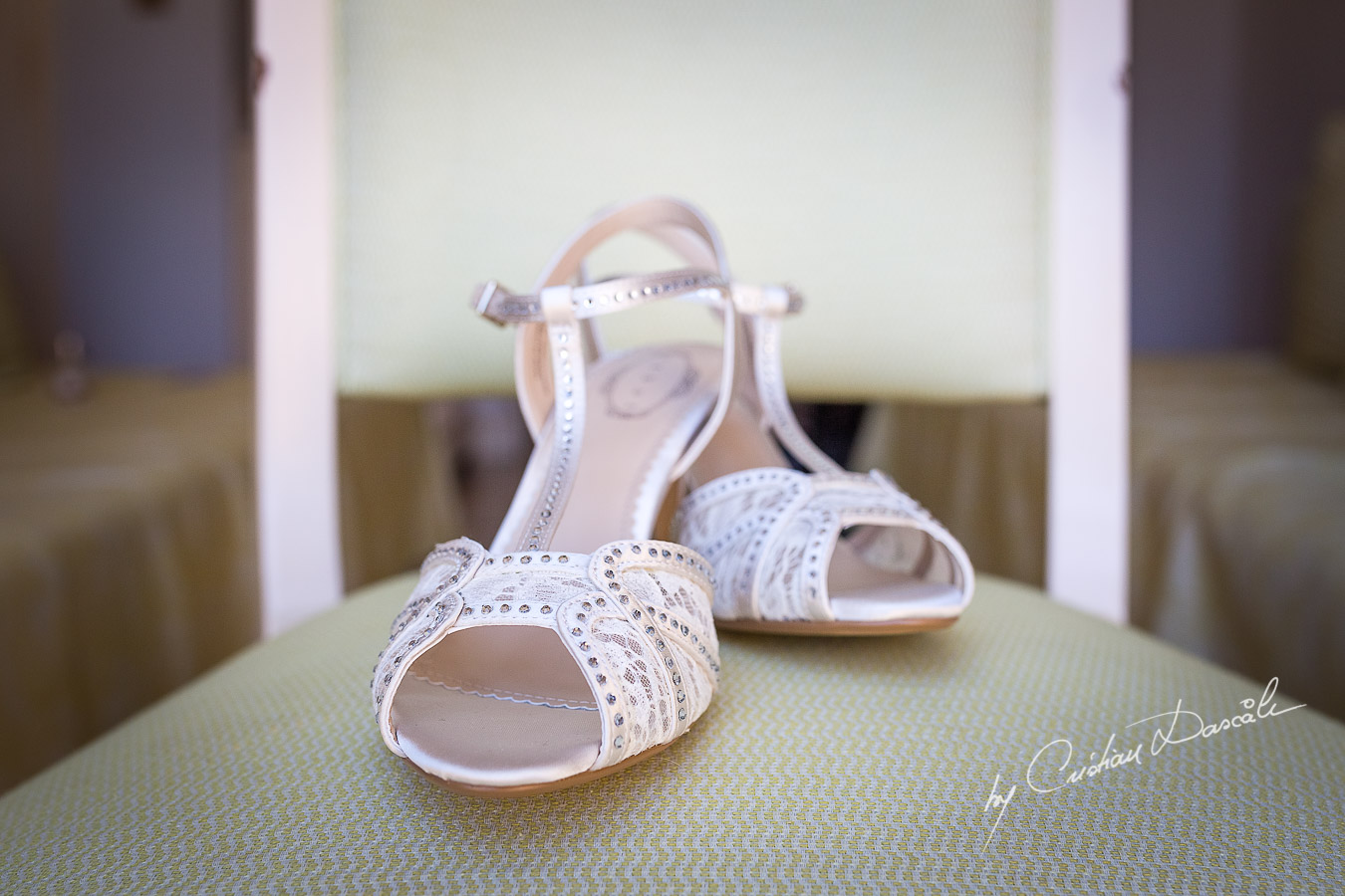 Brides's details at Aphrodite Hills Resort captured during a wedding by Cristian Dascalu.