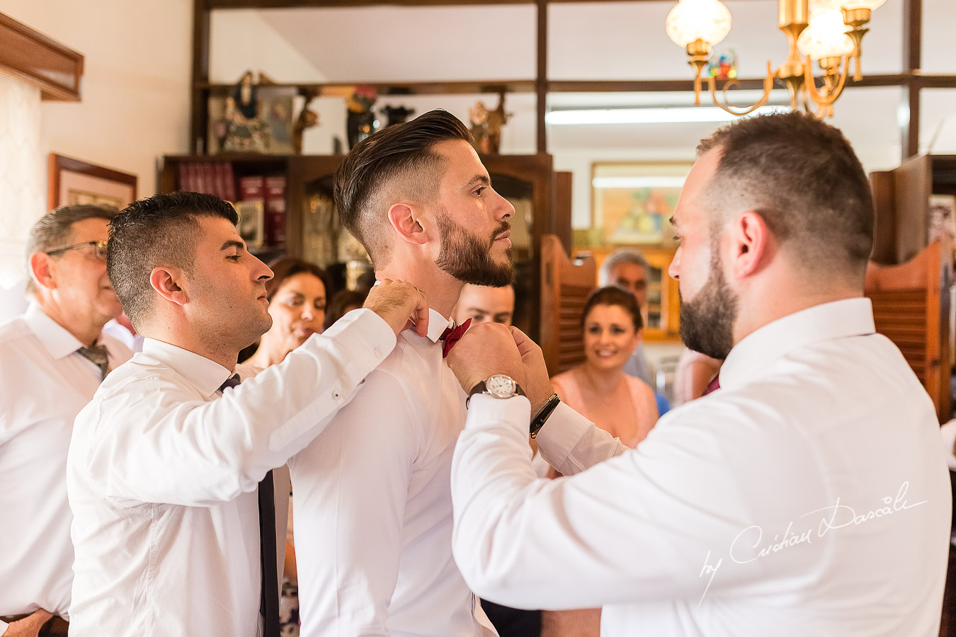 Groom's getting ready photographed at a wedding in Nicosia by Cyprus Wedding Photographer Cristian Dascalu