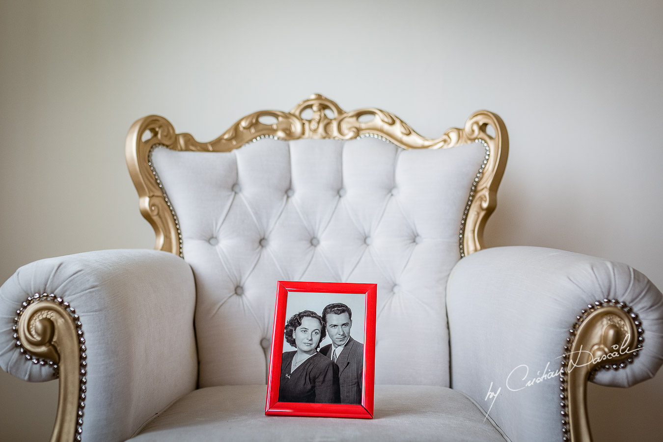 Bride's grandparents memories photographed at a wedding in Nicosia by Cyprus Wedding Photographer Cristian Dascalu