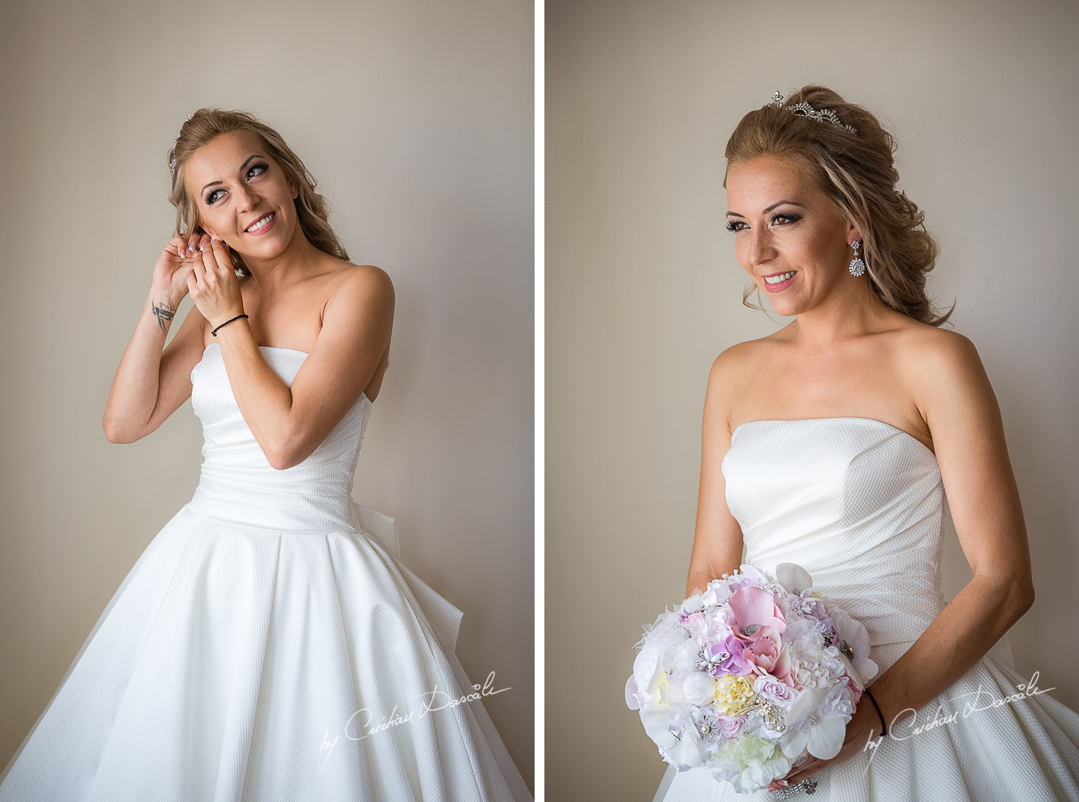 Beautiful bridal moments photographed at a wedding in Nicosia by Cyprus Wedding Photographer Cristian Dascalu