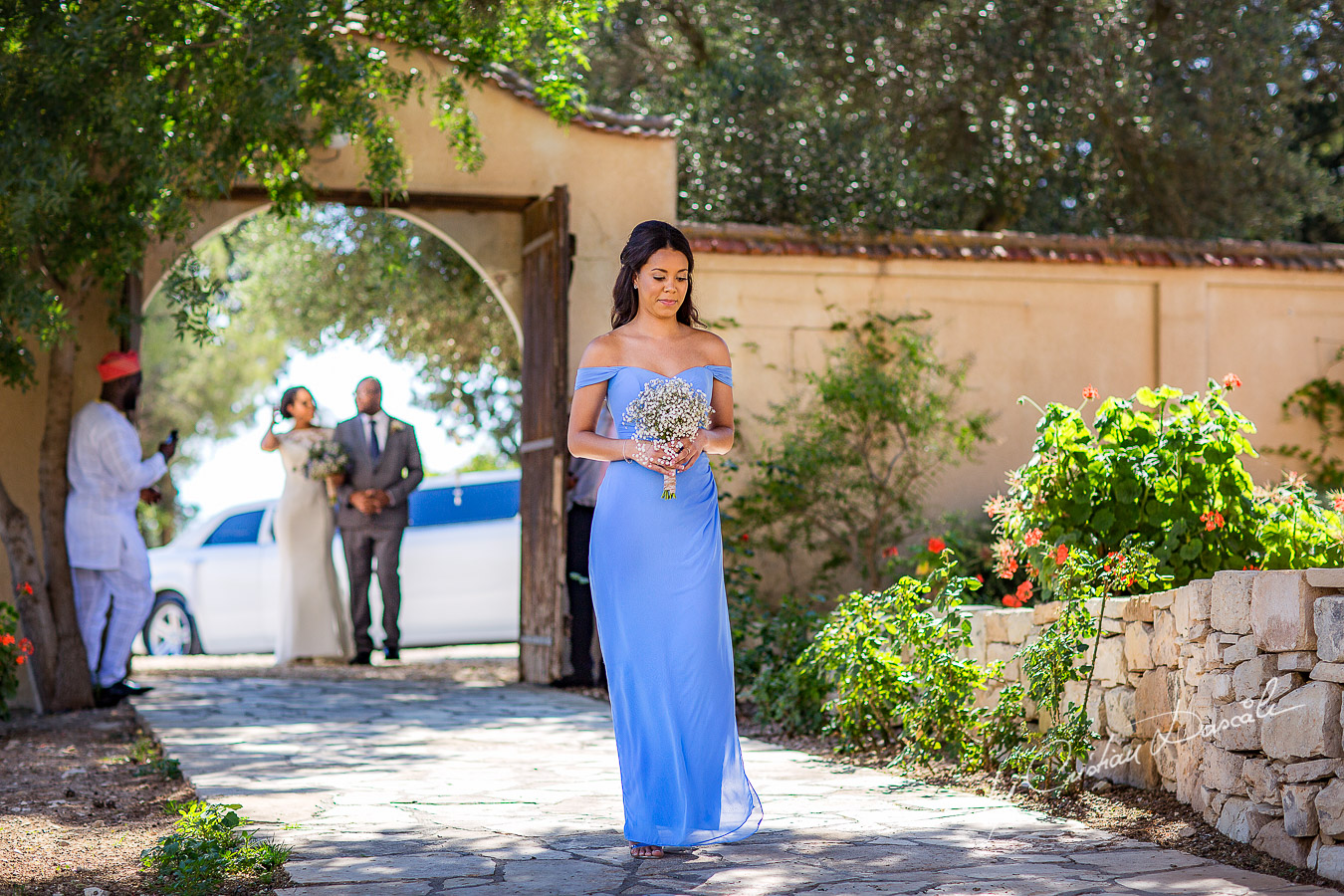 Moments with the maid of honor captured a wedding at Minthis Hills in Cyprus, by Cristian Dascalu.