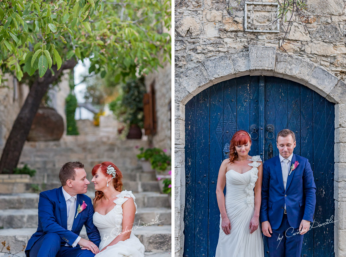 Beautiful wedding moments captured by Cristian Dascalu at Aporkyfo Traditional Houses in Lofou, Cyprus