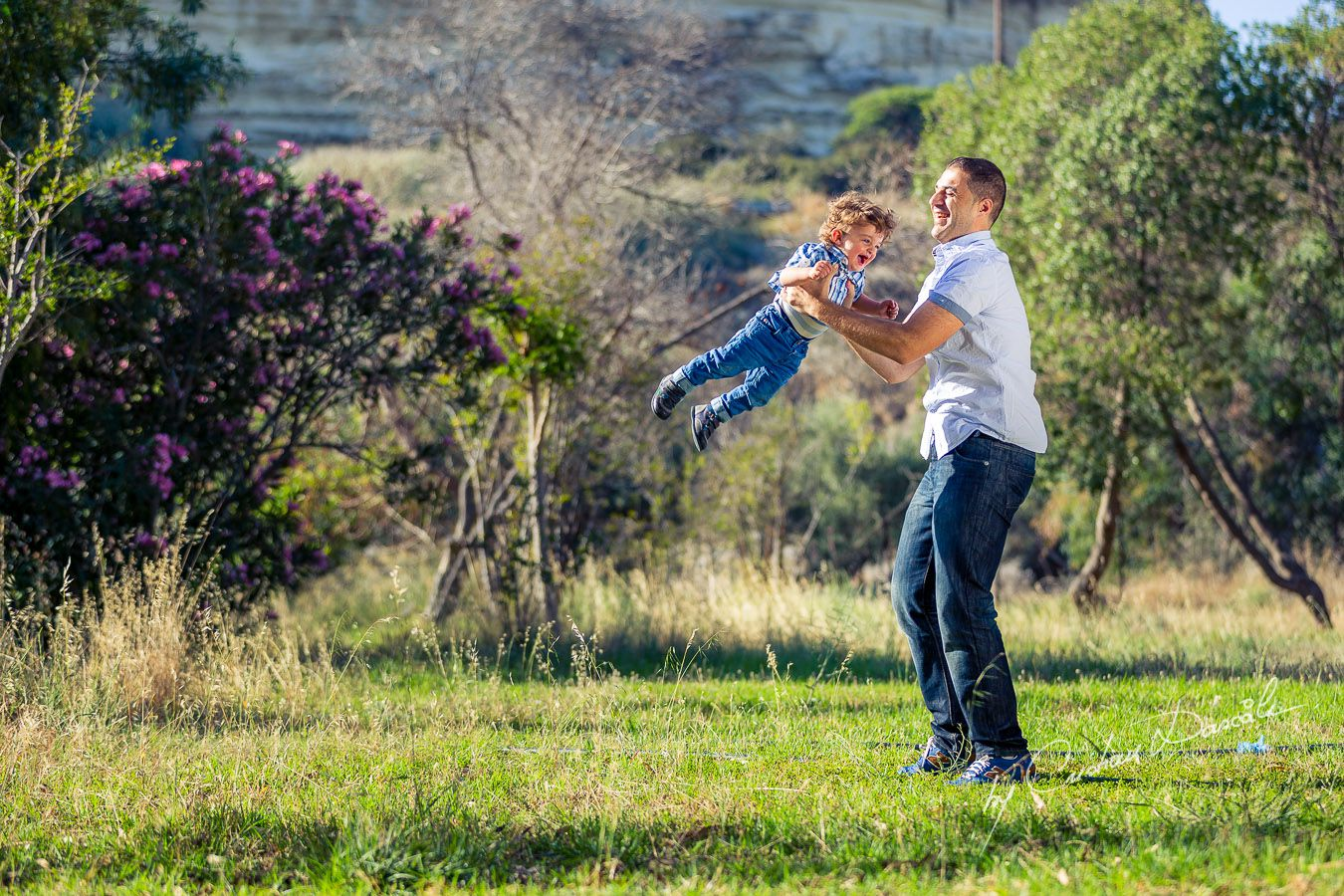 George & Harry playing near Curium Beach, Cyprus. Photographer: Cristian Dascalu