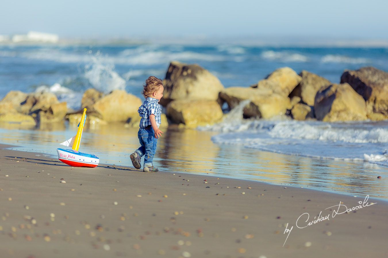 Precious moments: Harry at Curium Beach, Cyprus. Photographer: Cristian Dascalu