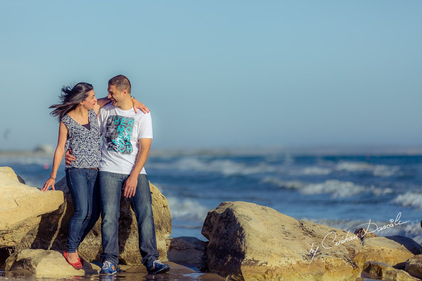 Precious moments: Maria & George at Curium Beach, Cyprus. Photographer: Cristian Dascalu