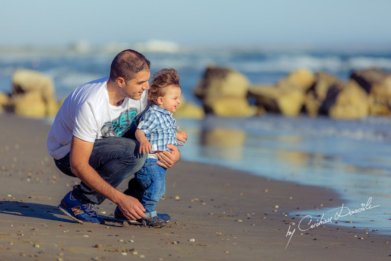 Precious moments: George & Harry at Curium Beach, Cyprus. Photographer: Cristian Dascalu
