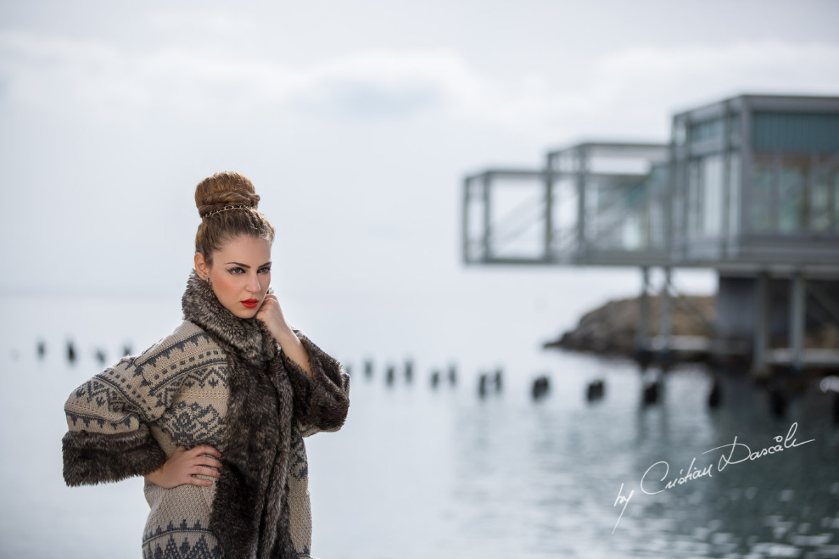 Model Shooting in Limassol Old Port | Themis Lights up The City