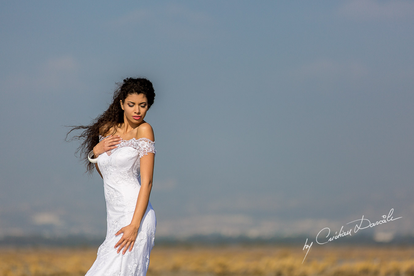 Wedding Editorial in Akrotiri Wedding Designer Litous Model Alice - 01