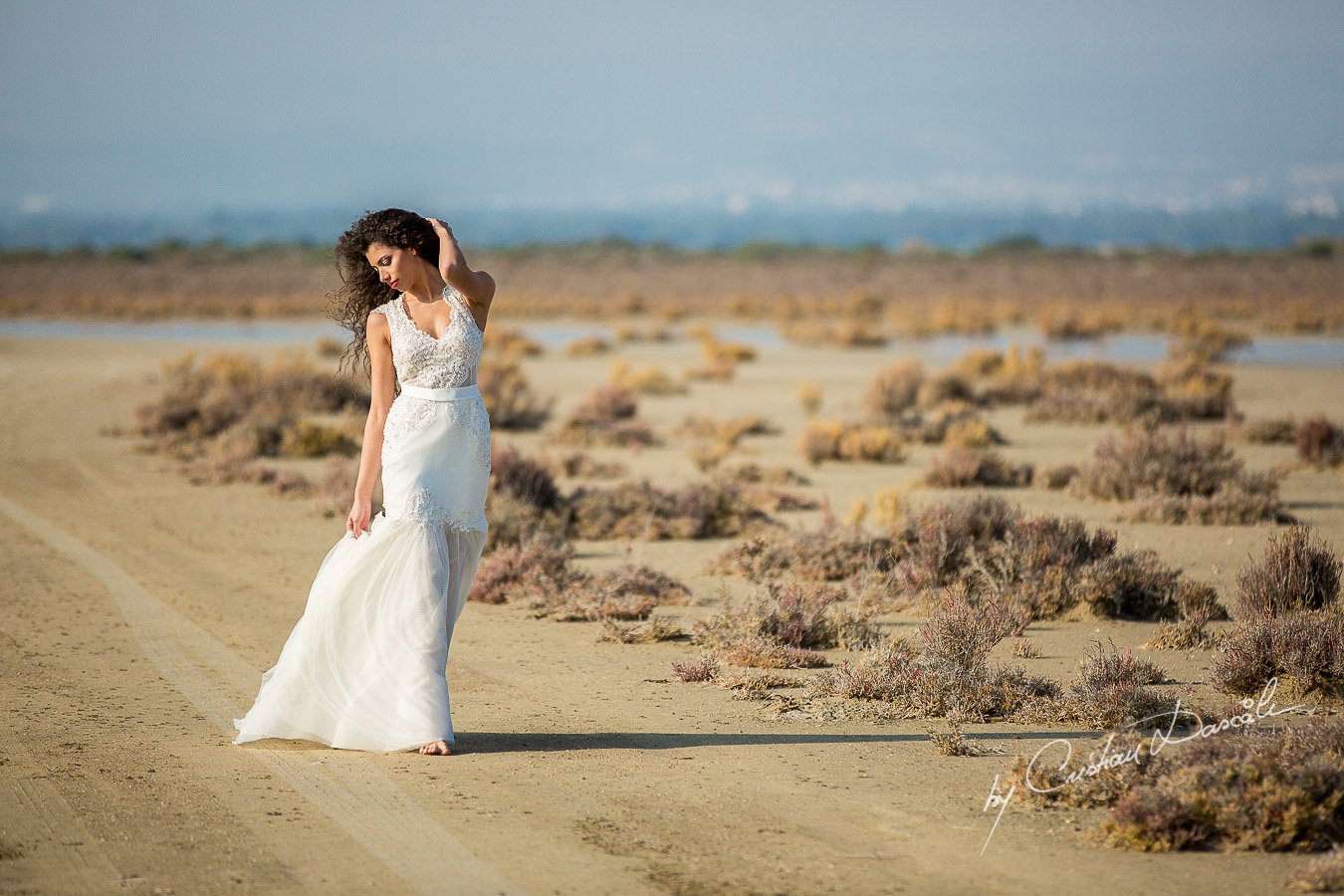 Wedding Editorial in Akrotiri Wedding Designer Litous Model Alice - 09