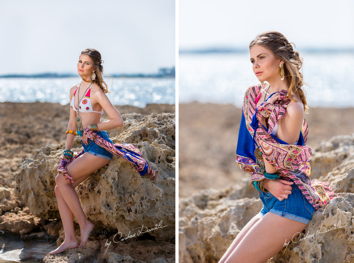 Gorgeous Anastasia on the Rocks of Nissi Beach