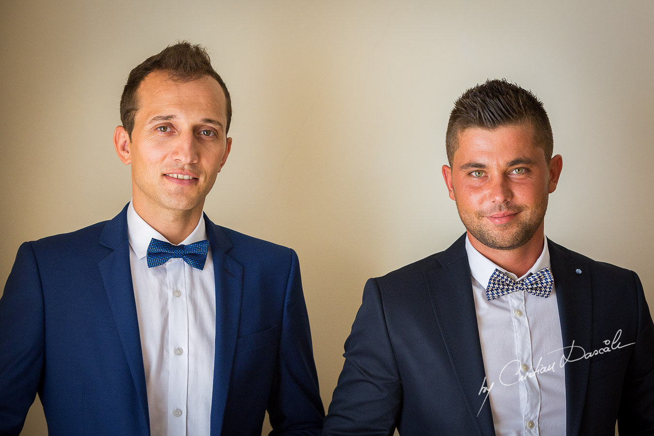 Groom and best man at Elias Beach Hotel in Limassol