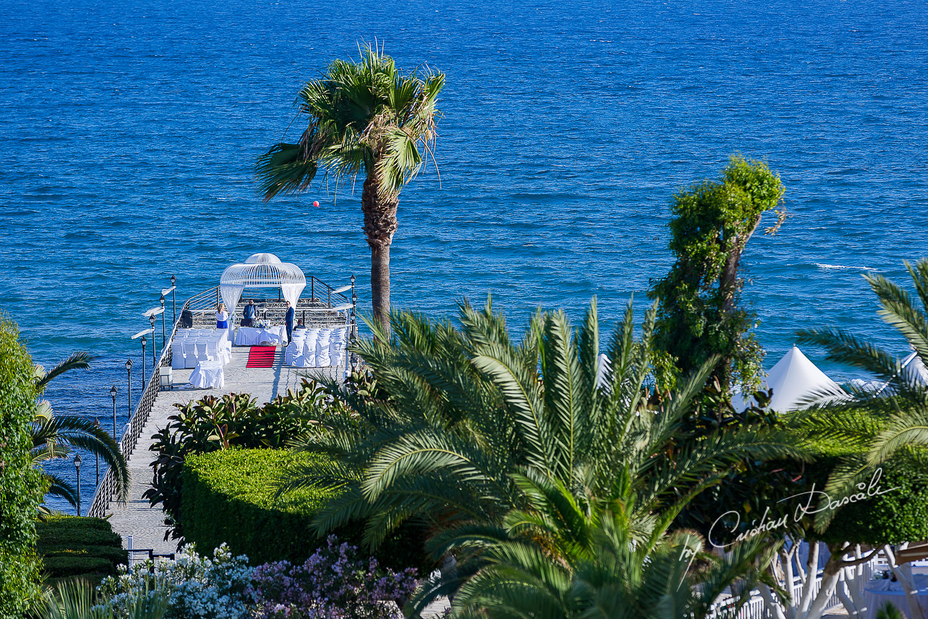 Groom is waiting for his bride at Elias Beach Hotel in Limassol