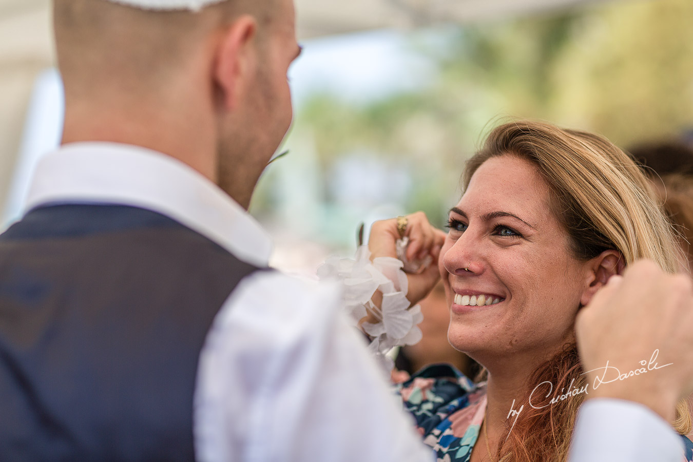 Moments captured at a Jewish Wedding Ceremony in Cyprus.