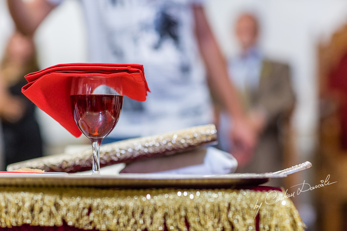 Church wine used for wedding ceremony at Traditional Cyprus Wedding in Tochni, Larnaca.
