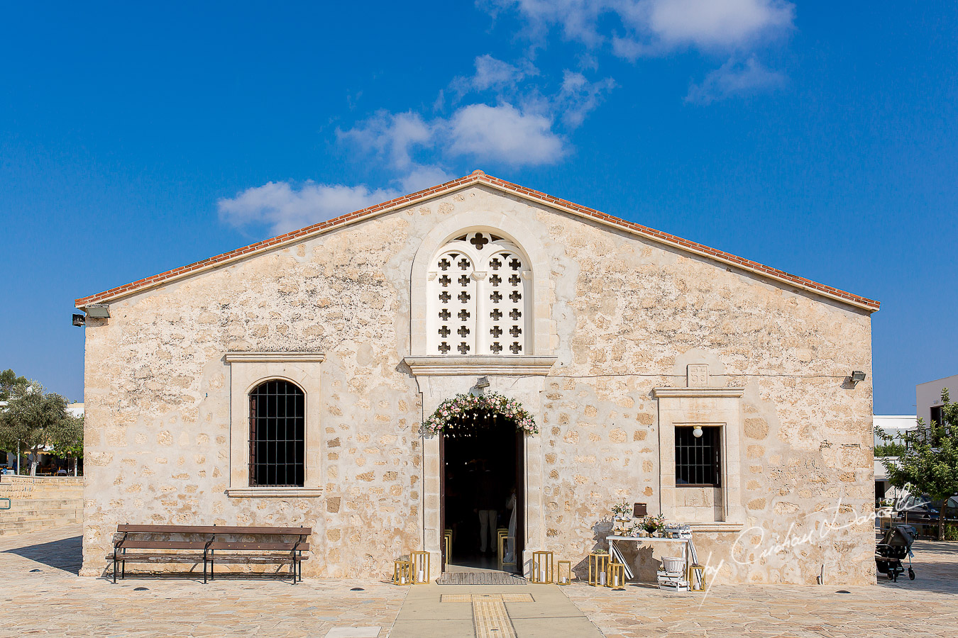 Agia Paraskevi Church in Paphos, Cyprus, right before the wedding ceremony of Tim and Rhea.
