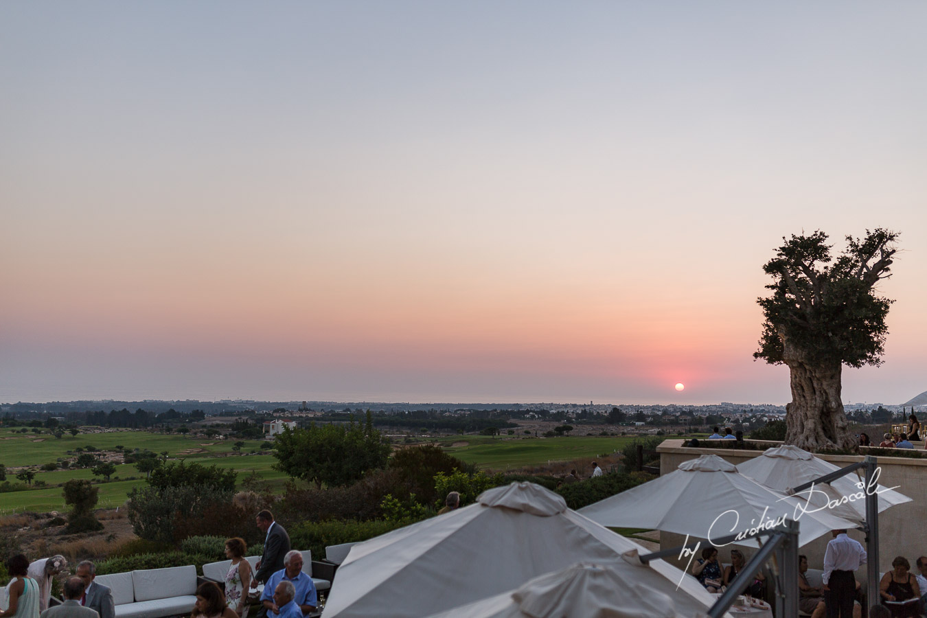 Gorgeous sunset captured form the Hills of the Elea Estate Golf by Cristian Dascalu wedding photographer.