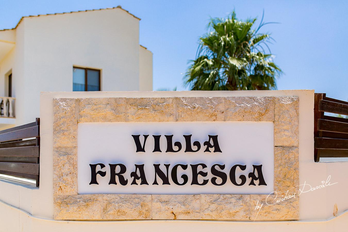 Villa Francesca in Ayia Napa photographed during a wedding in Ayia Napa by Cristian Dascalu.