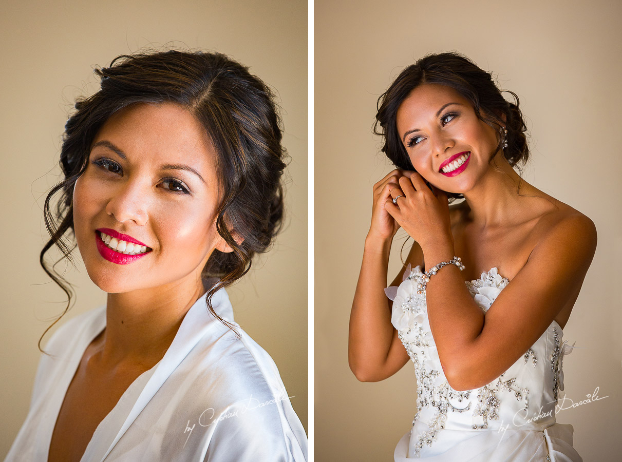 Beautiful Bride Marian posing at her wedding in Ayia Napa, Cyprus by Cristian Dascalu.