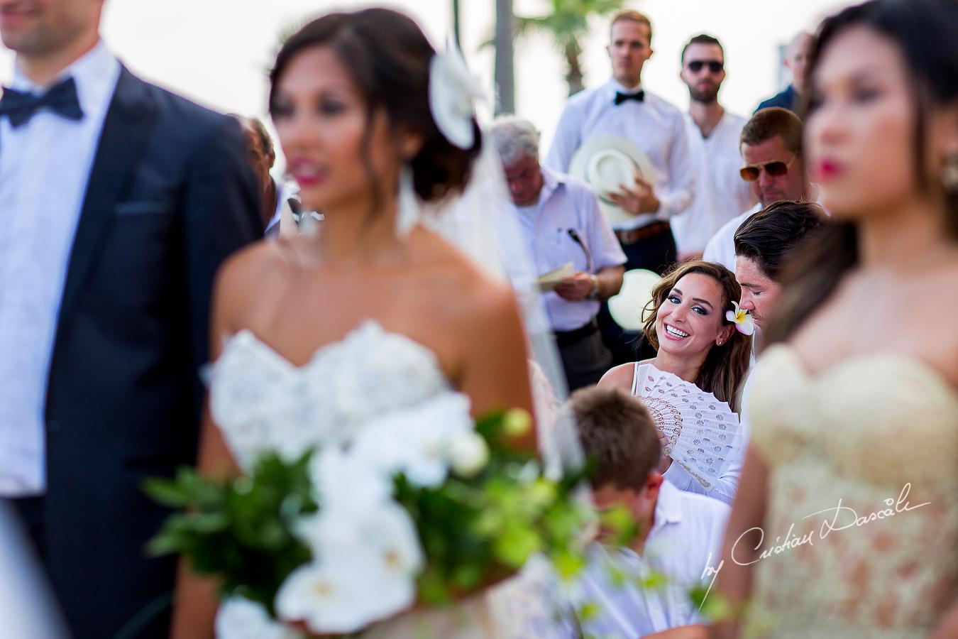 Wedding moments captured at a wedding in Ayia Napa, Cyprus by Cristian Dascalu.