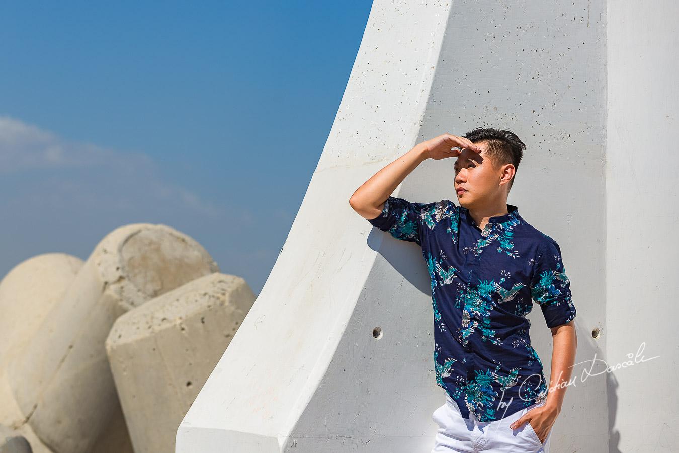 Song posing like a model in Zygi, Cyprus. Photographer: Cristian Dascalu