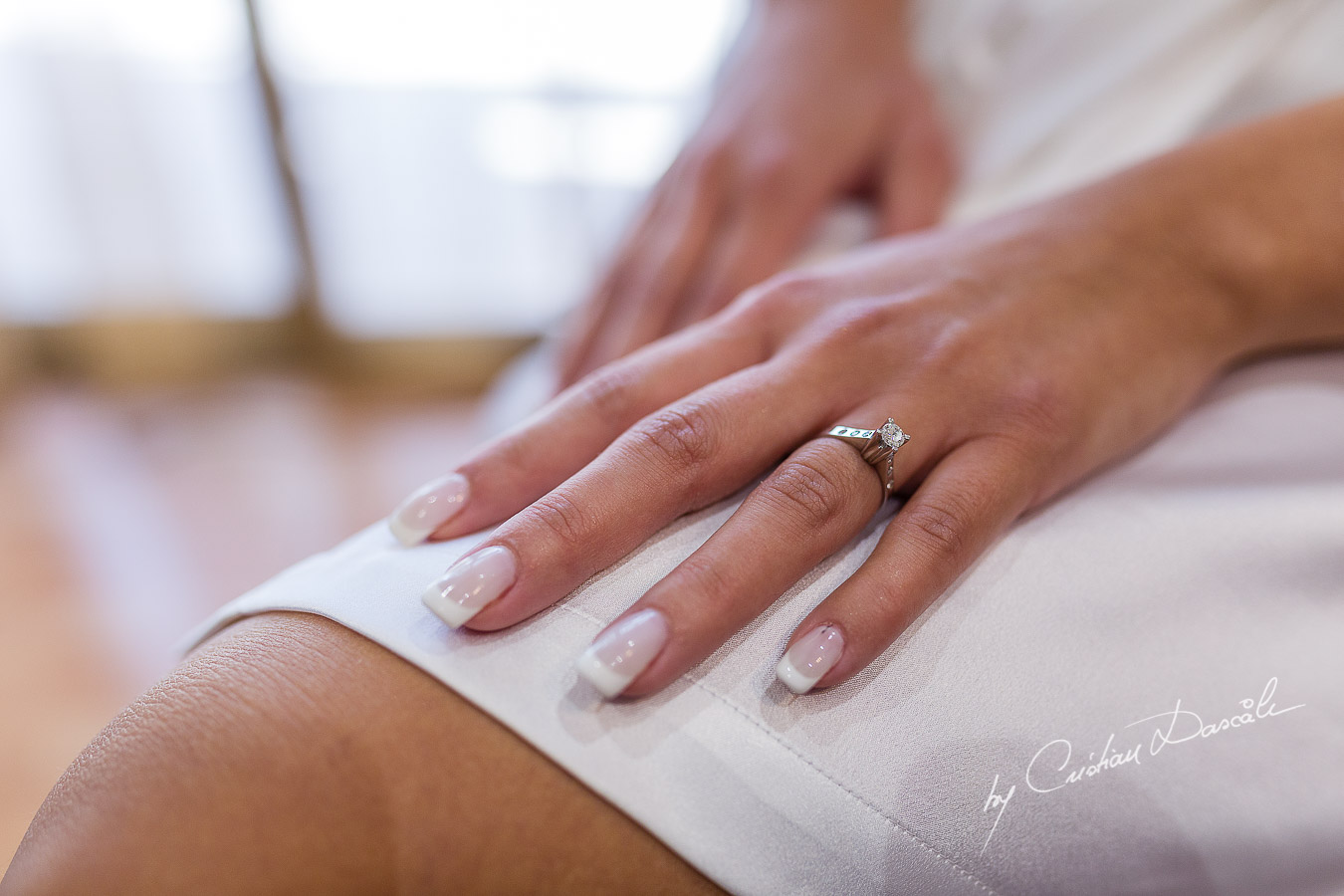 Moments from the bride's getting ready captured at an elegant and romantic wedding at Elias Beach Hotel by Cristian Dascalu.
