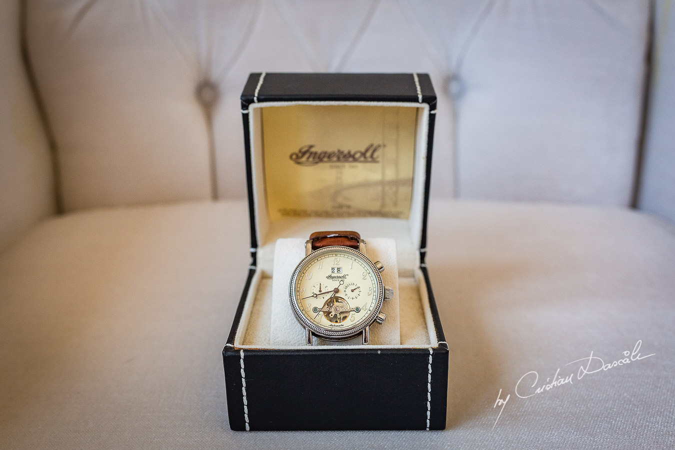 Groom's watch photographed at a wedding in Nicosia by Cyprus Wedding Photographer Cristian Dascalu
