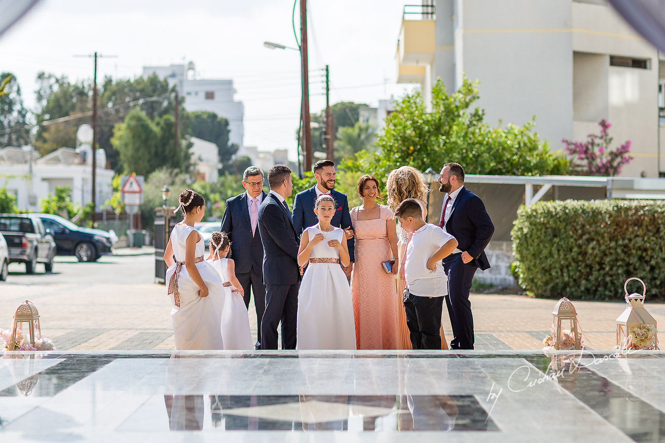 Groom's arrival photographed at a wedding in Nicosia by Cyprus Wedding Photographer Cristian Dascalu