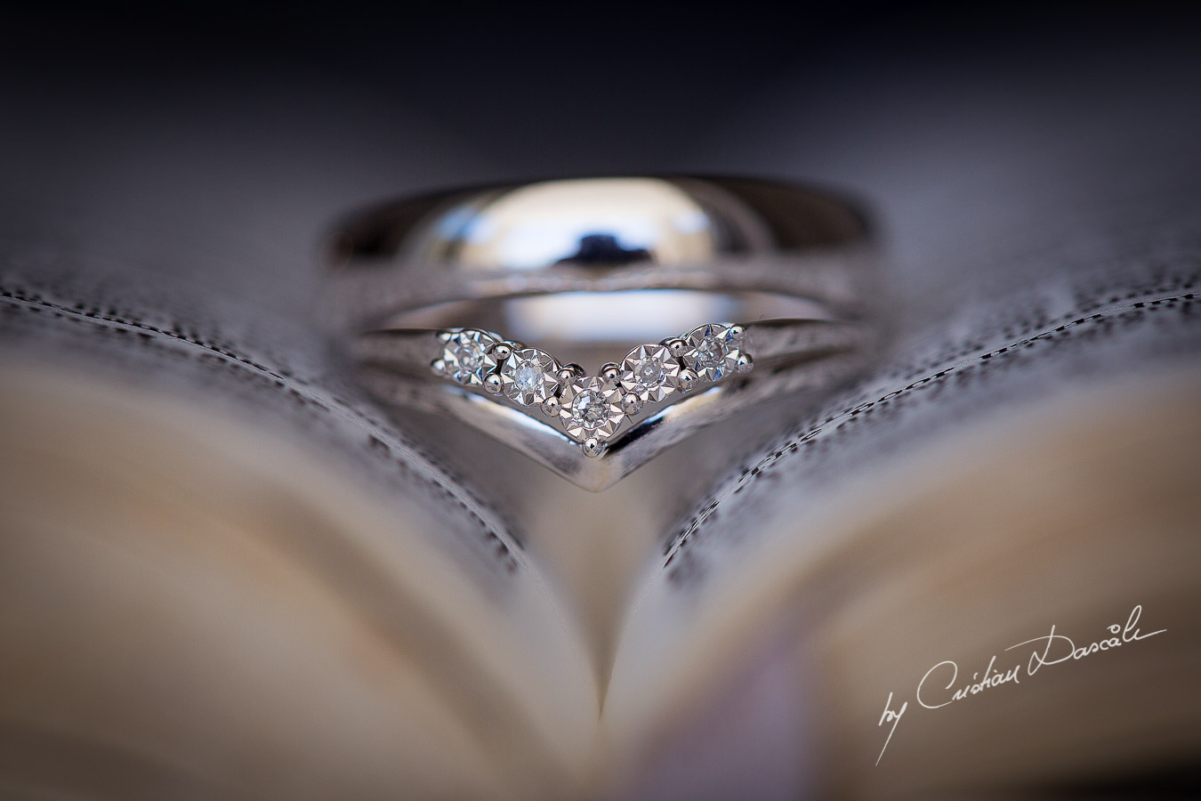 Wedding details captured at a wedding at Minthis Hills in Cyprus, by Cristian Dascalu.