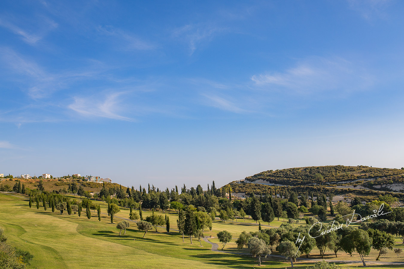 Beautiful landscape captured at a a wedding at Minthis Hills in Cyprus, by Cristian Dascalu.