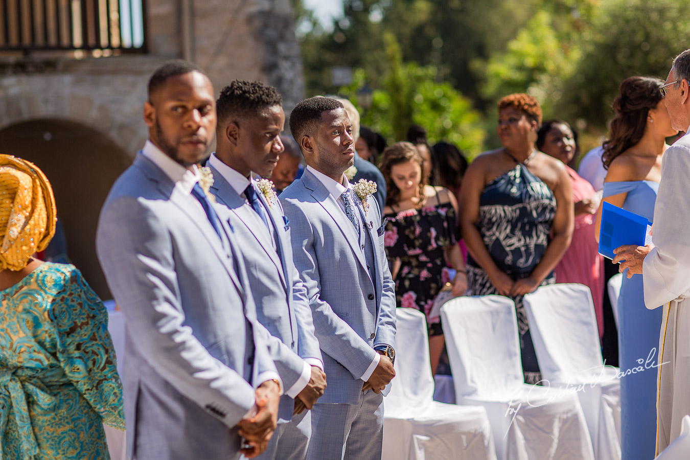 Moments with the groom waiting for his bride captured at a wedding at Minthis Hills in Cyprus, by Cristian Dascalu.