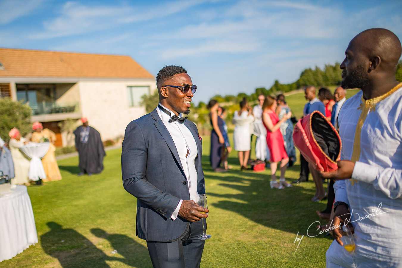 Wedding moments captured at a wedding at Minthis Hills in Cyprus, by Cristian Dascalu.